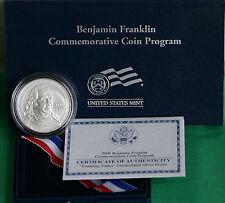 2006 P Ben Franklin 90% Silver Dollar BU Coin Founding Father with Box and COA