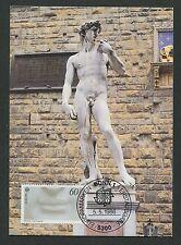 Federale MK 1986 EUROPA CEPT Michelangelo David Maximum cartolina MAXIMUM CARD MC d2159