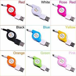 Einziehbare USB Sync Daten Ladekabel Schnur Ladegerät Power Wire für iPhone 5678