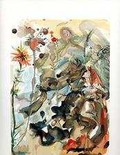 SALVADOR DALI THE DIVINE COMEDY PARADISE 25 WOODBLOCK ART PRINT, ON SALE!!!