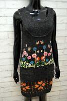 DESIGUAL Vestito Tubino Lana Grigio Donna Taglia S Abito Dress Women's Wool