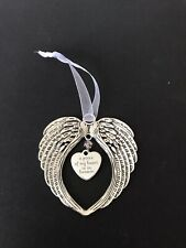 Dad Ect Clear Crystal Christmas angel wings Rememberance Mum