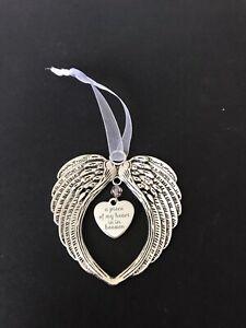 Angel wings Rememberance , Christmas, Mum , Dad Grandad GrandEct Clear Crystal