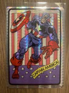 1990's Marvel Universe Vending Machine Foil Prism Sticker Captain America rare