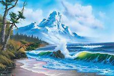 BOB ROSS - WAVES CRASHING - ART POSTER 24x36 - 3143