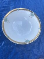 "W A Pickard Porcelain Hand Painted 9 3/4"" Bowl Gold Rim"
