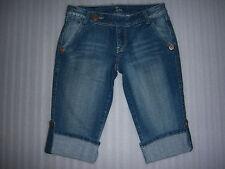 ZCO Premium Brand Rhinestone Capri Blue Jeans Juniors Size 7 NEW
