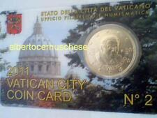 coin card 50 cent euro VATICAN 2011 Vaticano Vatikan