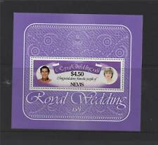 Nevis 1981 Royal Wedding MS SG 78 Neuf sans charnière