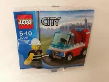 LEGO®  CITY 30001 POLYBAG - Feuerwehrmann mit Auto - NEU / OVP