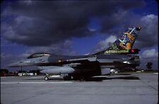Original colour slide F-16A Fighting Falcon spcl. FA112 of 1 Sqdn. Belgian AF