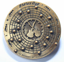 STATUS QUO In Search of the Fourth Chord Original Tour Concert Metal Pin Badge