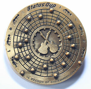 STATUS QUO - In Search of the Fourth Chord - OG Tour Concert Metal Pin Badge