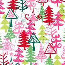 Michael Miller Retro Christmas Fabric YULE TREES -yards