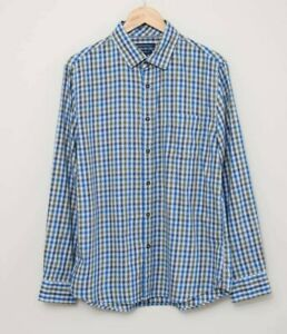 SPORTSCRAFT Tapered Fit Long Sleeve Check Print Shirt - Size M