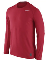 Men's Nike Team Pro Cool Dri Fitted Long Sleeve Top 728052-657 Red NEW Shirt