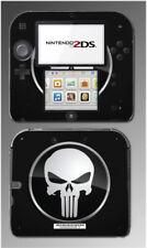 The Punisher Skull Bones Black Emblem Video Game Decal Skin Cover Nintendo 2DS