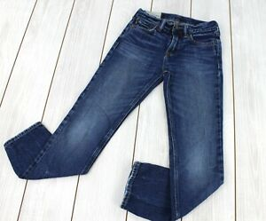 Abercrombie Boy's Relaxed Jeans Size 12 Dark Wash