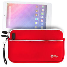Red Neoprene Protective Case for LG G Pad II 8.0 Tablet w/ Front Pocket