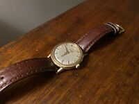 Omega Vintage 1965 Automatic Watch LU6304 Cal 550 10k GF Bez New Leather HR Band