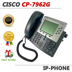 Cisco CP-7962G Unified IP Business Office Phone VoIP Display POE