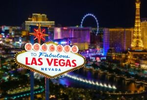 7x5ft Vinyl Las Vegas Night Casino Photography Studio Banner Backdrop Background