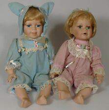 Two Knightsbridge New Born Baby Porcelian Dolls