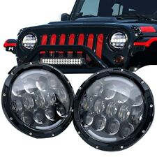 "7"" Inch Black For jeep Nissan patrol MQ GQ Maverick LED headlights 105W ( pair )"