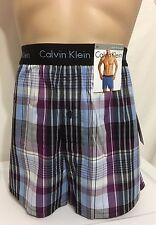 Calvin Klein Slim Fit Woven Boxer Small 28-30 Multi-Plaid  U1513  (5946)