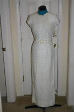 NICOLE MILLER New York City LACE Wedding DRESS Gown & BOLERO Jacket IVORY Sz 6