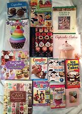 HUGE LOT 14 Cupcake & Candy & Cake & Decorating Cookbooks!! Directions, Recipes