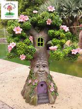 Solar Wisdom Tree Green Man lights up night fairy house garden decor pagan