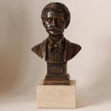 Antique Bronze Bust Statue Austrian Composer Johann Strauss (1825-1899) c.1898