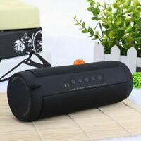 Portable Bluetooth Speaker Waterproof FM Stereo Wireless LED Flashlight Subwoofe