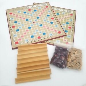 Scrabble Crafter Craft Game Lot 170+ Tiles 8 Holders 2 Boards Replacement Pieces