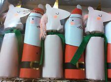 BNIB New 6 Meri Meri Unicorn & Santa Christmas Crackers - Gift Joke Hat