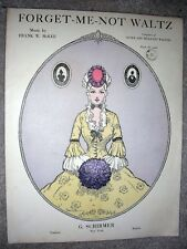 1917 FORGET-ME-NOT WALTZ Vintage Sheet Music by Frank W. McKee
