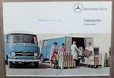 MERCEDES BENZ L 319 TRANSPORTER Kastenwagen 1965 Original PROSPEKT BROCHURE