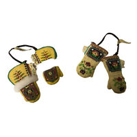 Enesco Friends Of The Feather Mitten Ethnic Pattern Chritmas Tree Ornament