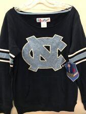 North Carolina Tar Heels NCAA Women's Navy Rhinestone Sweatshirt, Large