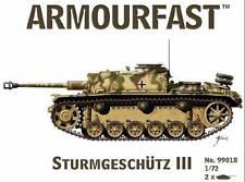 Sturmgeschutz/StuG.III (x2) 1/72 Tank plastic kit Hat Armourfast 99018 Free post
