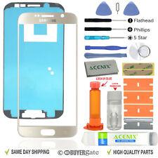 Samsung Galaxy S6 Gold Glass lens Screen Replacement Repair Kit Black + UV Glue