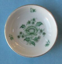 HEREND China NIANG NANKING BOUQUET Green PEONY Vintage Porcelain BUTTER PAT TRAY