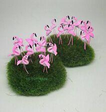 20 Pcs Miniature Dollhouse Fairy Garden Accessories Tiny Family flamingo