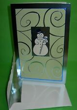 Snowman Holiday Christmas Greetings Cards Set of 12 w/ self-sealing Envelopes