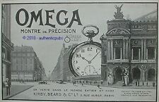 PUBLICITE OMEGA MONTRE DE PRECISION GOUSSET PARIS KIRBY BEARD DE 1919 FRENCH AD