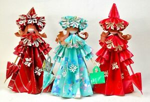 Vintage Japanese Origami Art Dolls circa 1980s YMT