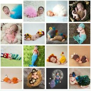 Newborn Girl Boy Baby Knit Clothes Photo Crochet Costume Photography Prop Outfit