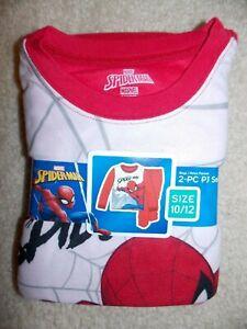 Marvel Spider-man Boy's 2-pc Fleece Pajama Set Size 10/12