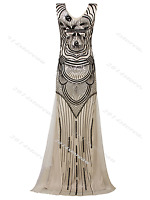 Flapper 1920s 1930s Dress Vintage Gatsby Wedding Evening 20s Party 8 10 12 14 16